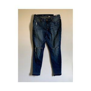 Distressed Skinny Jean Re/Made Denim